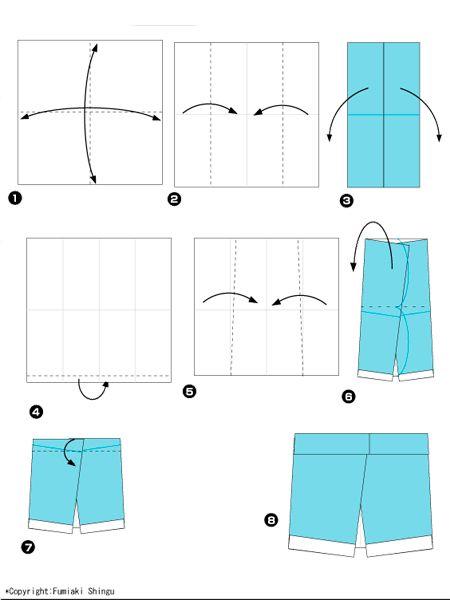 Оригами одежда, схемы.