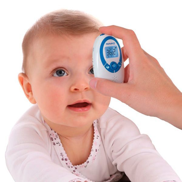 Всем известно, что малыши не любят мерить температуру. Бесконтактный термометр станет лучшим помощником мамам и папам.