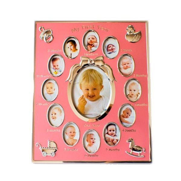 Яркая фоторамка поможет запечатлеть каждый месяц первого года жизни ненаглядного ребенка.