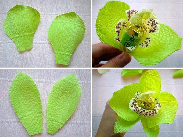 Букеты из конфет своими руками из гофрированной
