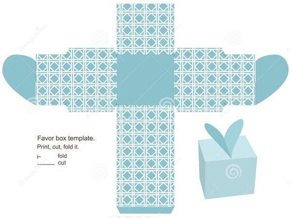 Коробки из бумаги, шаблоны.
