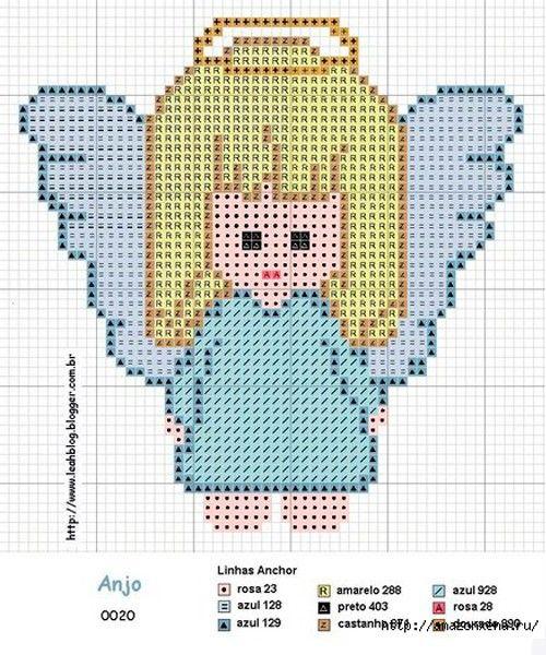 Вышивка маленькие ангелочки