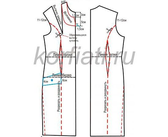 Выкройки классических платьев с длинным рукавом фото 913