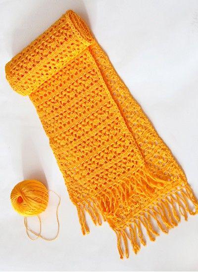 13 схем вязания женских шарфов