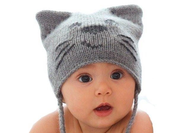 Детские шапочки спицами — 9