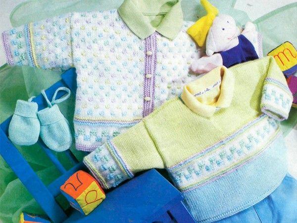 Детские кофты спицами, схемы.