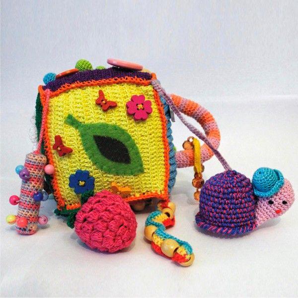 Вязаные развивающие кубики, идеи.