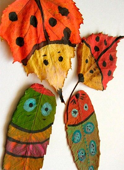 Роспись листьев, идеи.