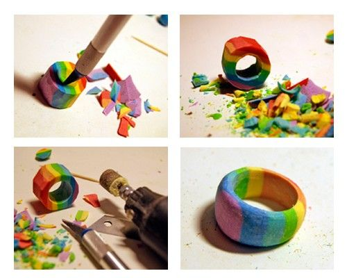Кольца из полимерной глины, мастер-классы.