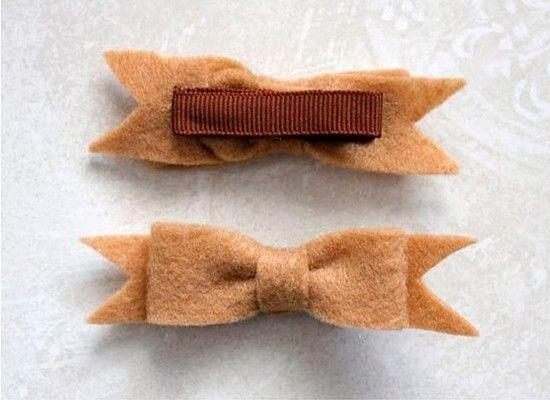 Украшения для волос из фетра, мастер-классы.