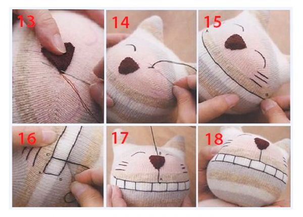 Как сделать игрушку для маленького котёнка своими руками