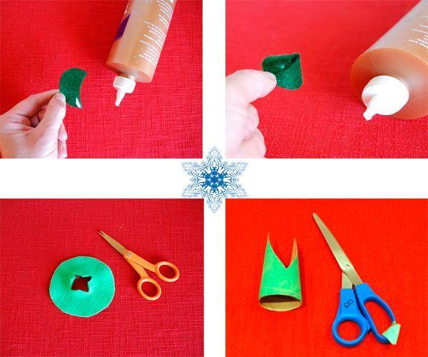 Один из кругов необходимо разрезать и склеить конусом. Картон склейте так, как показано на фото.