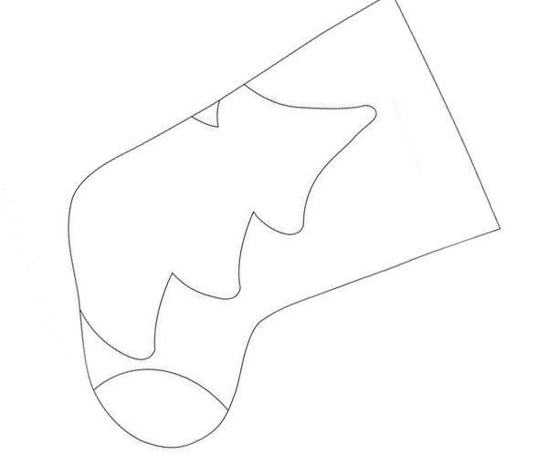 Распечатайте выкройку на принтере или нарисуйте вручную. Размер можно корректировать, соблюдая пропорции.