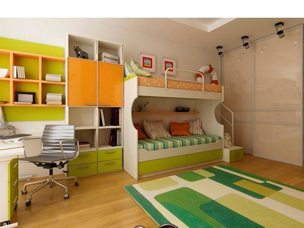В детской комнате обои и мебель могут быть раскрашены в яркие, жизнеутверждающие тона. Нежелательно загромождать комнату мебелью. Лучше, если окна выходят на юг, так ребенку достается больше солнца.