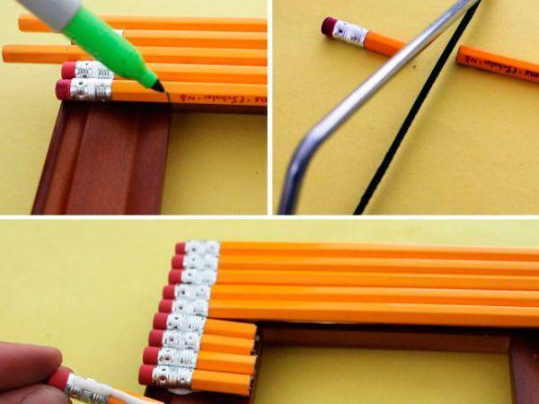 Идеи из цветных карандашей своими руками