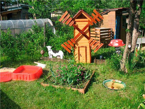 Уголок сада на участке детского сада своими руками