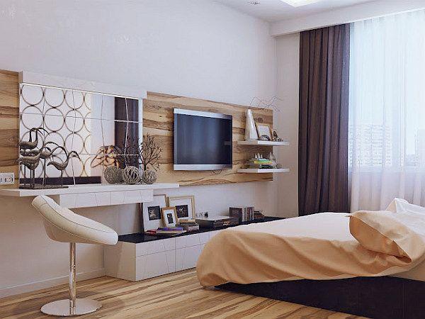 Современный дизайн спальни 14 кв.м