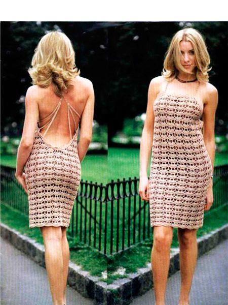 Летние вязаные платья — схемы