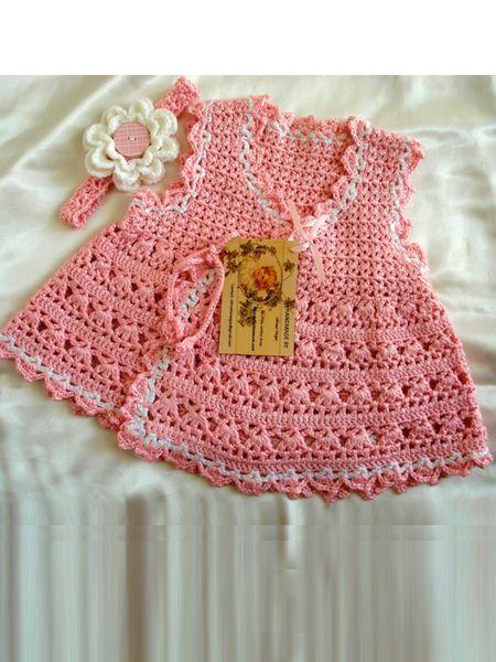 Вязаные детские платья — схемы