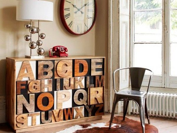 Буквы в интерьере, идеи.