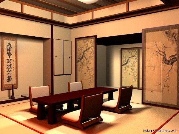 Японский стиль в интерьере, идеи.