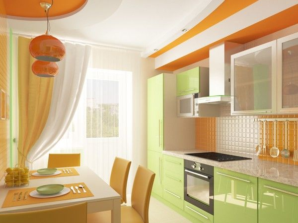 Дизайн маленькой кухни, идеи.