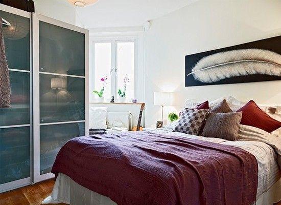 Дизайн маленькой спальни, идеи.