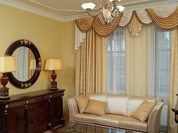 Идеи оформления окна в гостиной