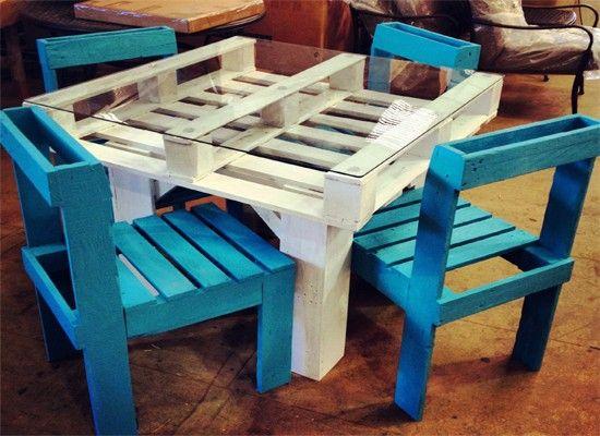Столы из поддонов, идеи.