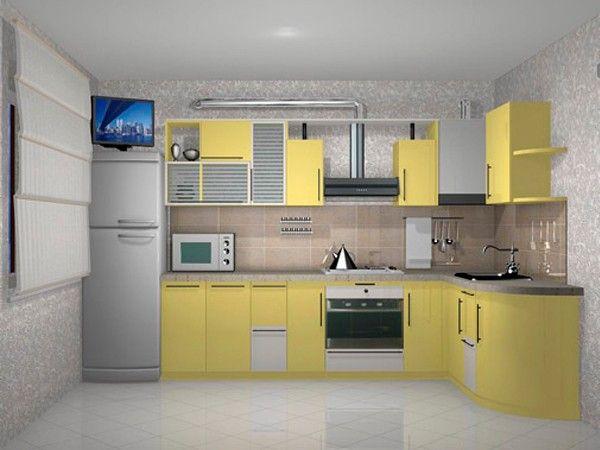 Интерьер угловой кухни, идеи.