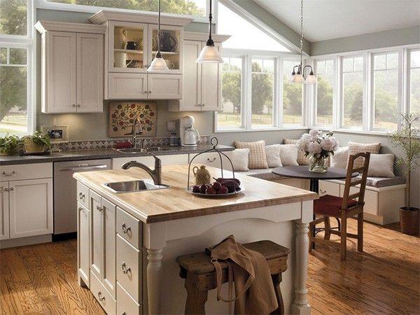 Интерьер кухни в частном доме, идеи.