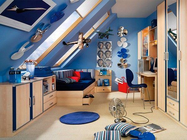 Детская комната на мансарде, идеи.