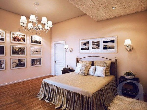 Интерьер спальни на мансарде, идеи.