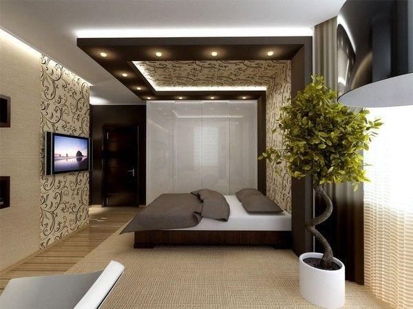 7. Недорогой и красивый потолок можно получить с применением обоев.  Обои клеят на выравненное, чистое и сухое основание. Для этой цели хорошо подходят бумажные или виниловые обои светлых цветов.