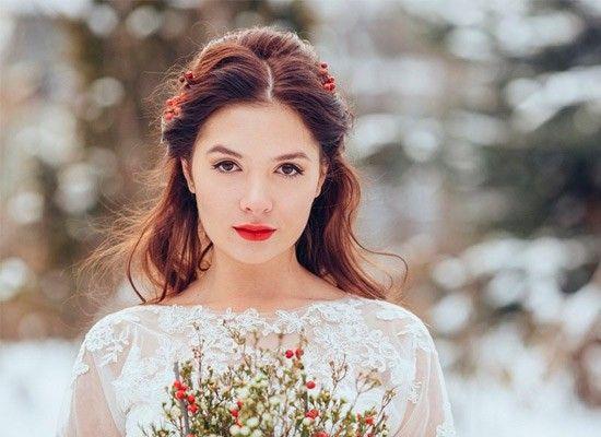 Свадебный макияж зимой