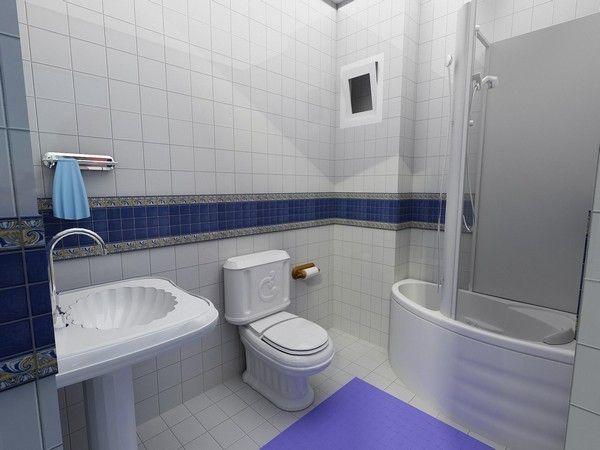 Дизайн интерьера совмещенной ванной