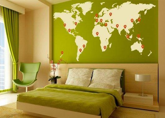 5. Дома хорошо, а в путешествии лучше. Добавьте в свой интерьер модный тренд – карту мира, и она будет манить вас выйти за порог и исследовать новые горизонты.