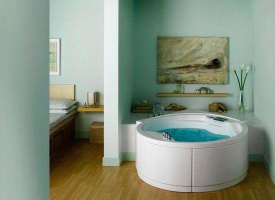 Круглая ванна в интерьере
