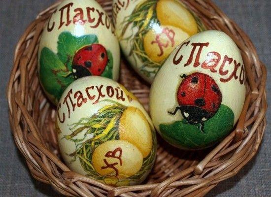 Декор пасхальных яиц