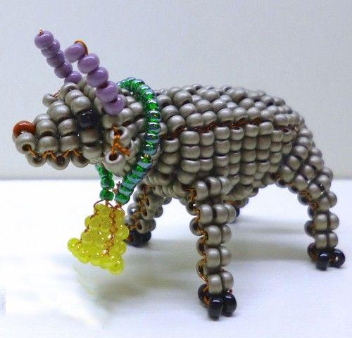 Животные из бисера схемы