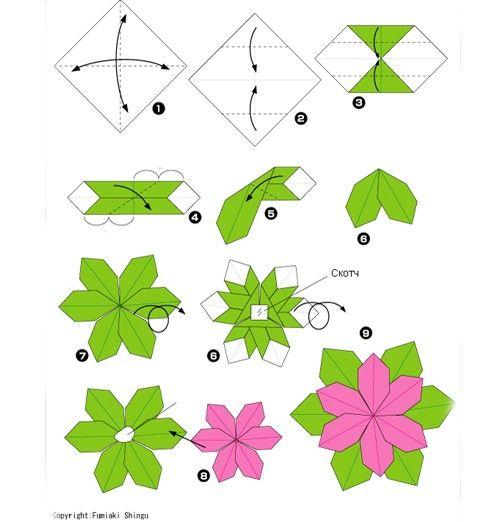 Цветы оригами своими руками