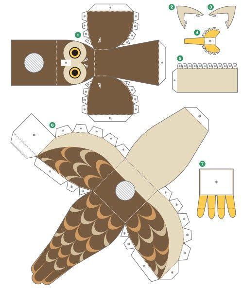 """Картинки: Более 25 лучших идей на тему """"3d игрушки из бумаги"""" на (Картинки)"""