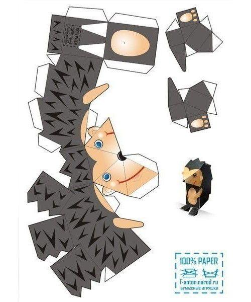 Животные из бумаги объемные