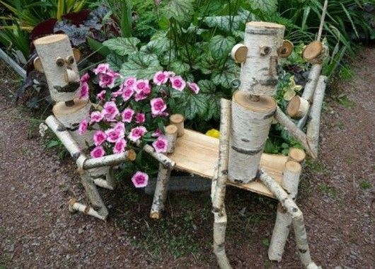 Садовые фигурки из дерева своими руками фото - Cvety-iren.ru
