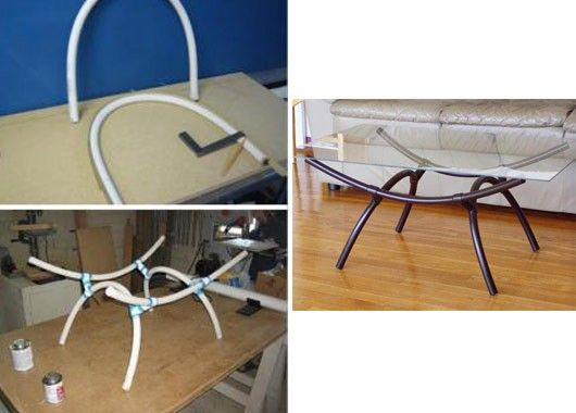 Пластиковая мебель своими руками