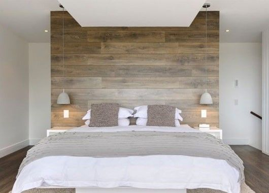 Ламинат на стене в интерьере