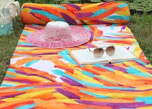 Покрывало для пляжа, идеи