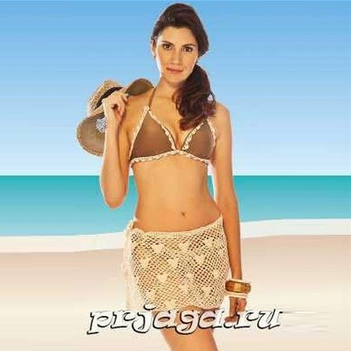 Пляжная юбка крючком