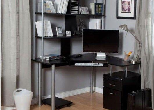 Угловой компьютерный стол с полками
