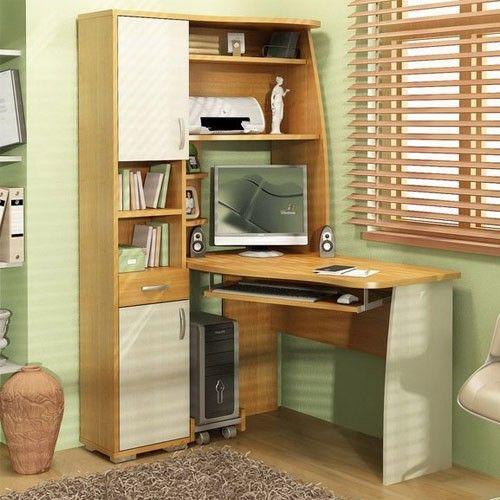 Компьютерный стол с полками и ящиками
